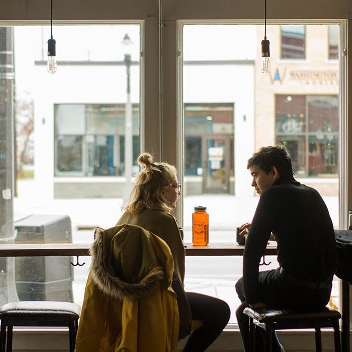 Blue Owl Coffee shop customers