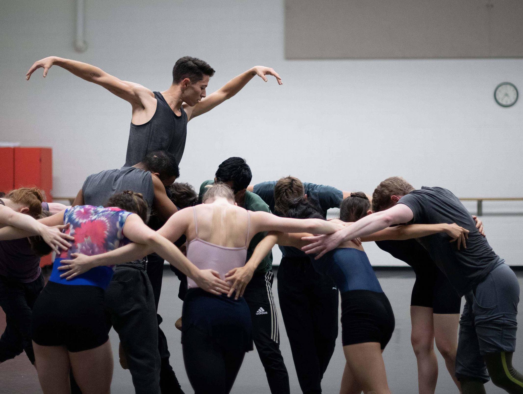 Grand Rapids Ballet MOVEMEDIA Handmade rehearsal