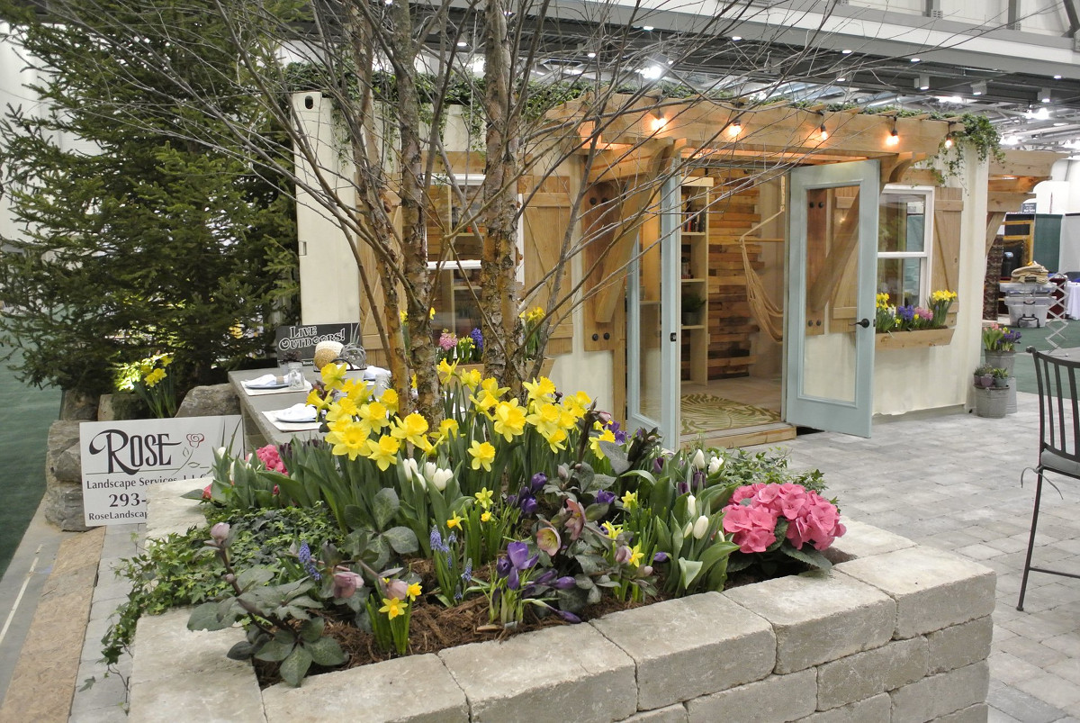 West Michigan Home & Garden Show Rose Landscape Services exhibit