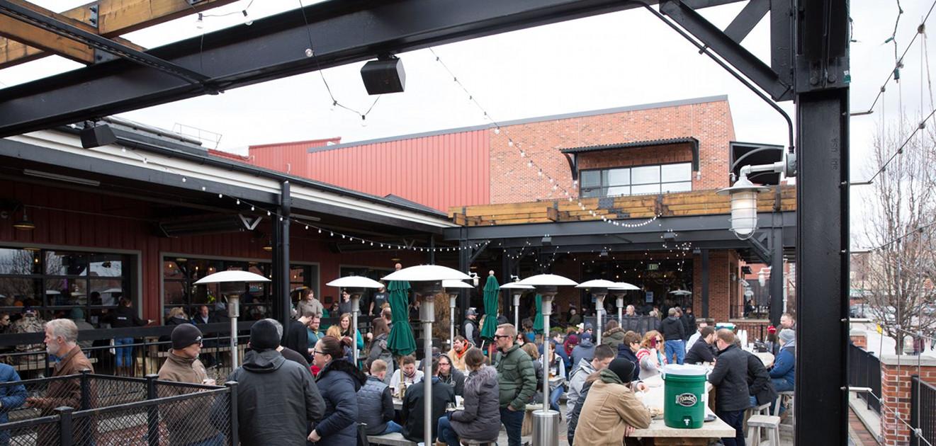 Founders Brewing Co. 2018 KBS Release Party Grand Rapids beer garden