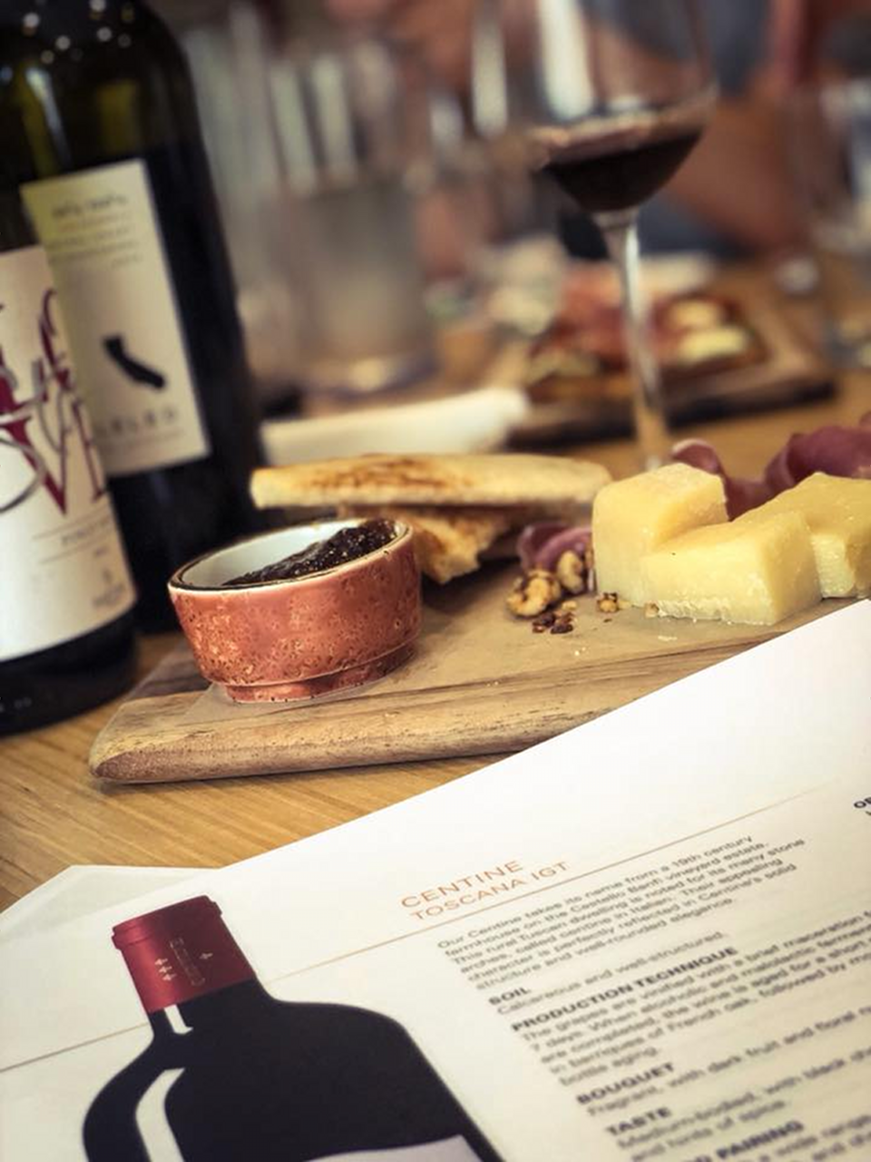 Fratelli's Kitchen & Bar wine bottle glass cheese