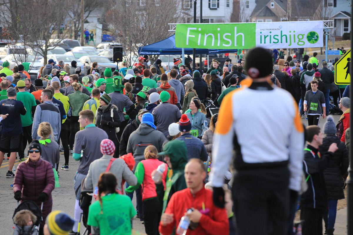 Spectrum Health Irish Jig finish line 2018