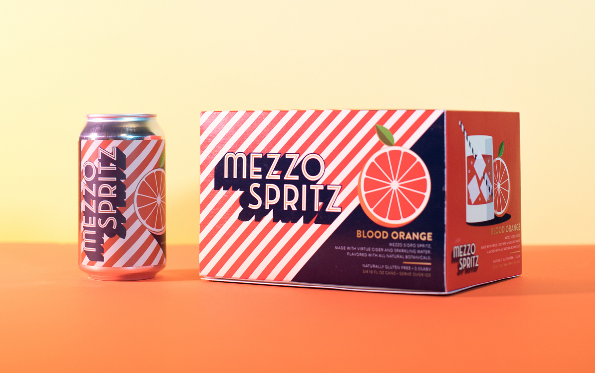 Virtue Cider Mezzo Spritz can six-pack