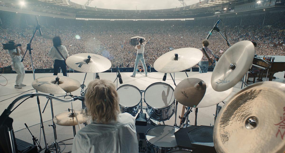 Bohemian Rhapsody movie band on stage