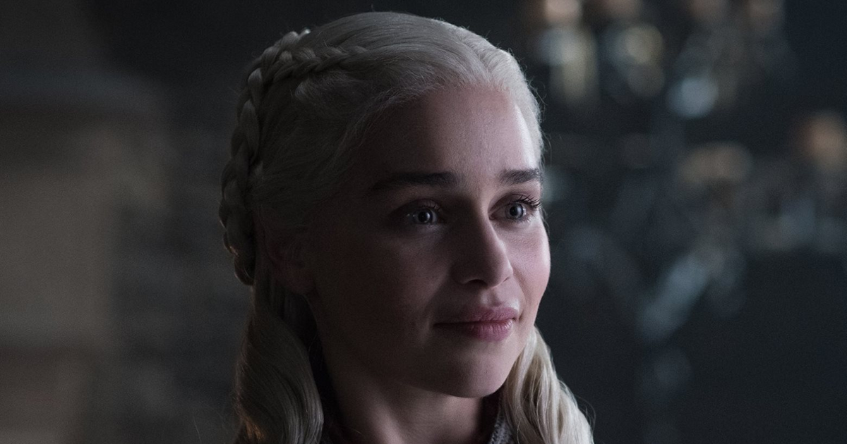 Emilia Clarke as Daenerys Targaryen Game of Thrones cropped