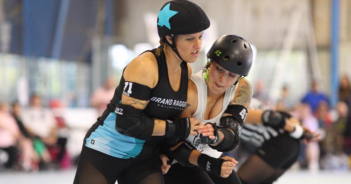 Grand Raggidy Roller Derby skater