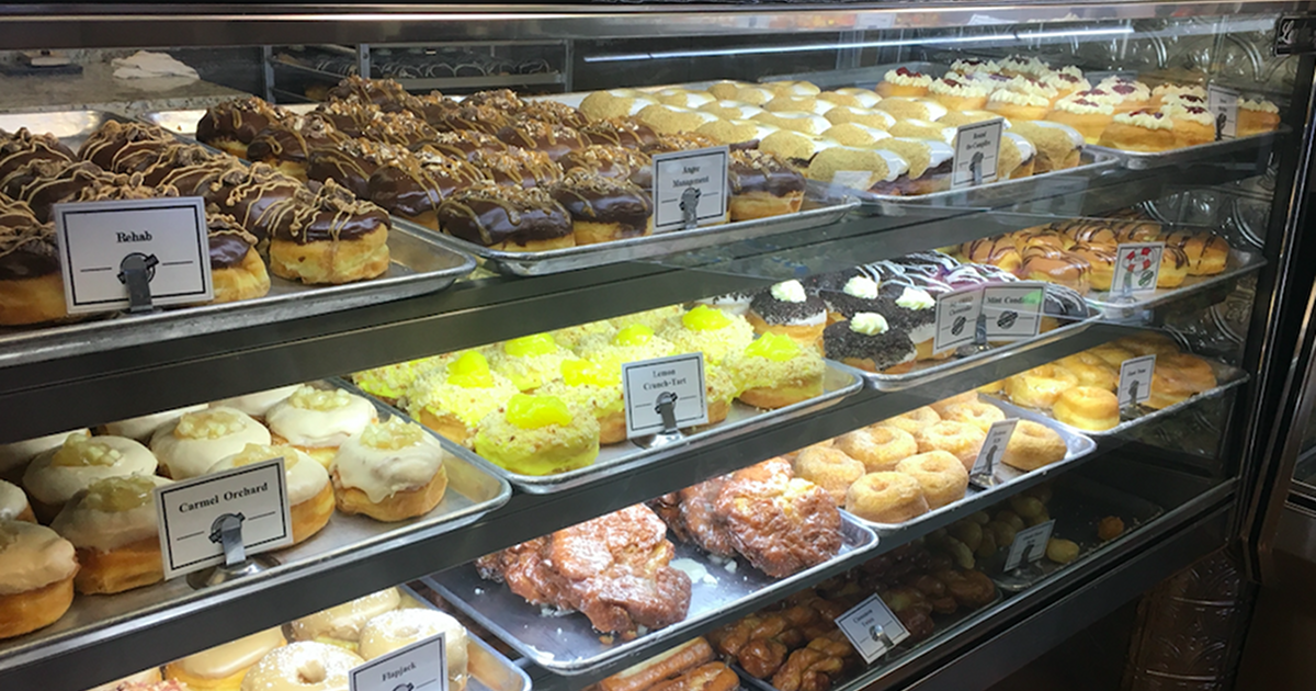 The Donut Conspiracy display case