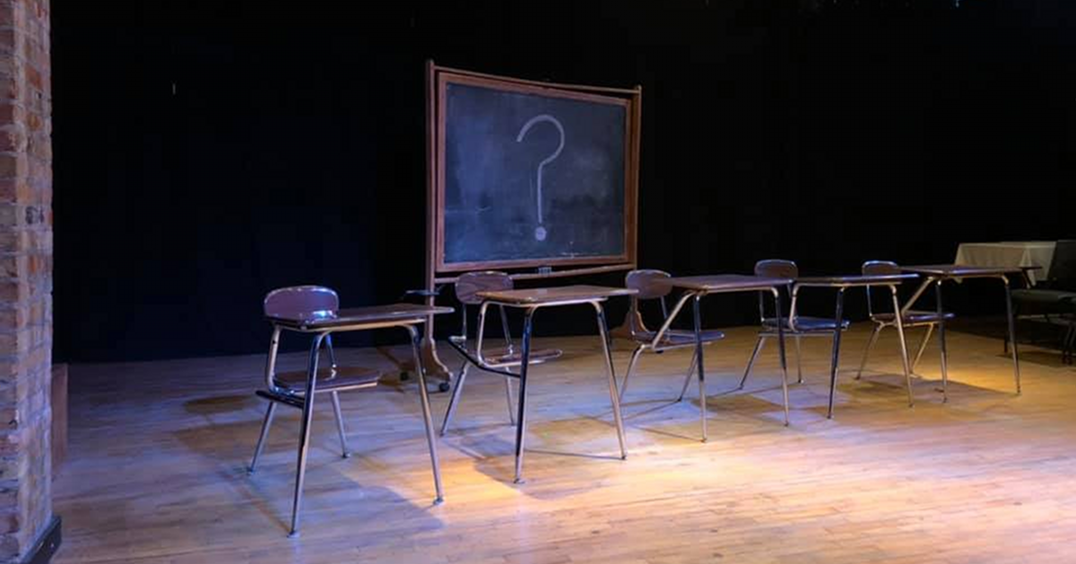 The University Wits stage for All I Really Need To Know I Learned in Kindergarten at Dog Story Theater