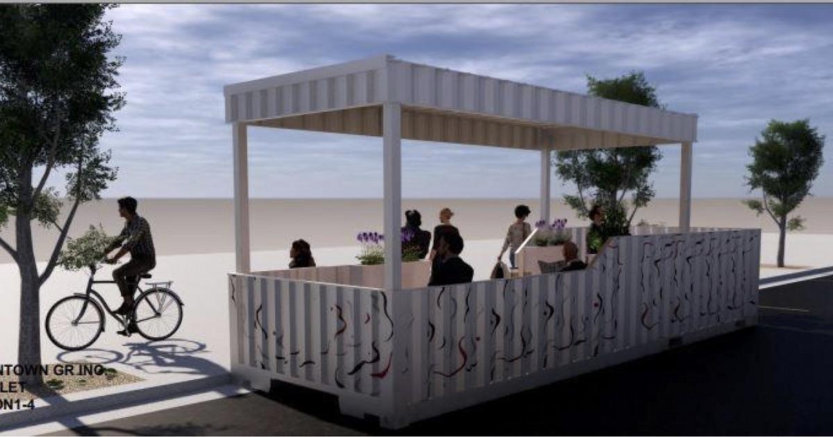 Calder Plaza parklet rendering