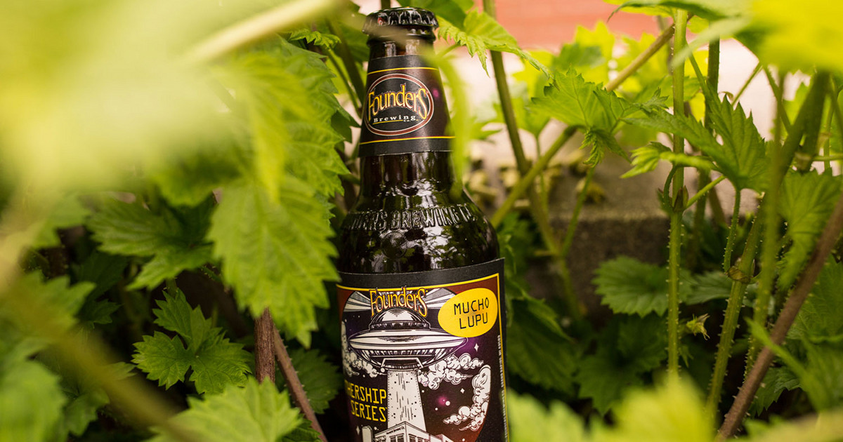 Founders Brewing Co. Mucho Lupu beer bottle