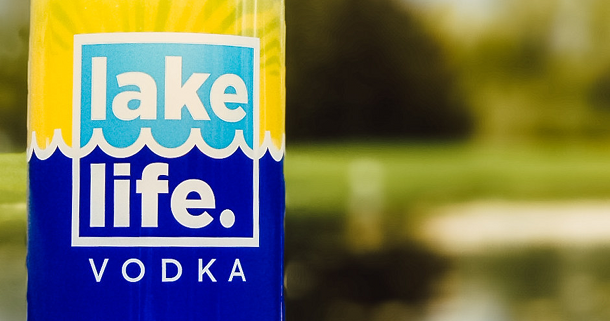 New Holland Spirits Lake Life Vodka bottle partial