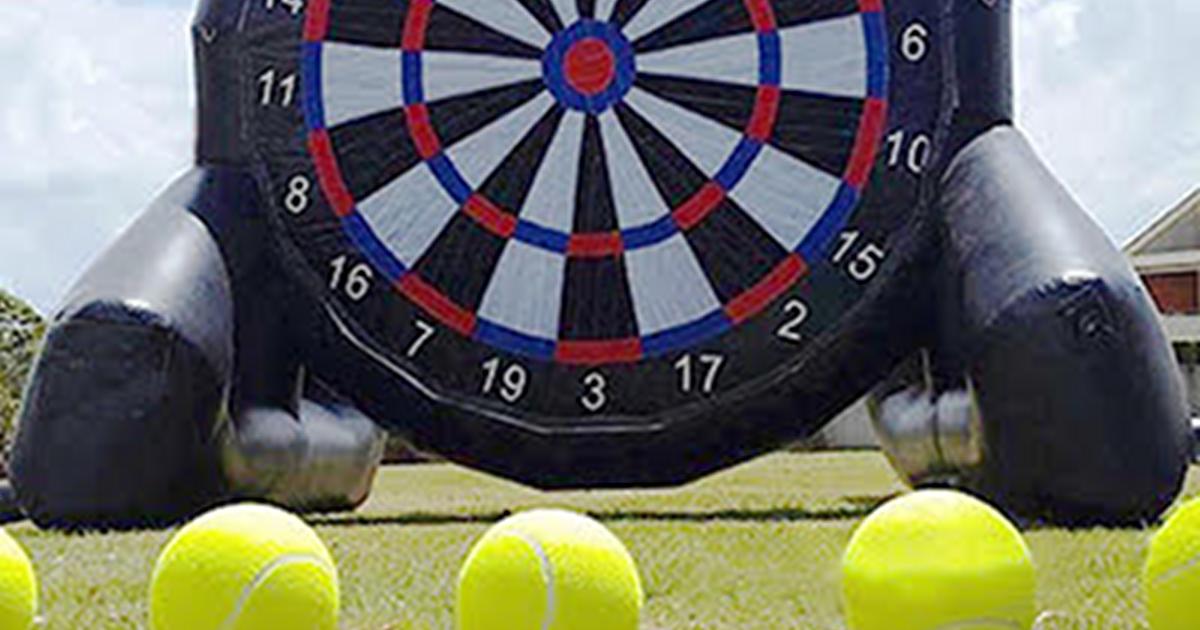 Downtown Market Third Thursdays inflatable dart board