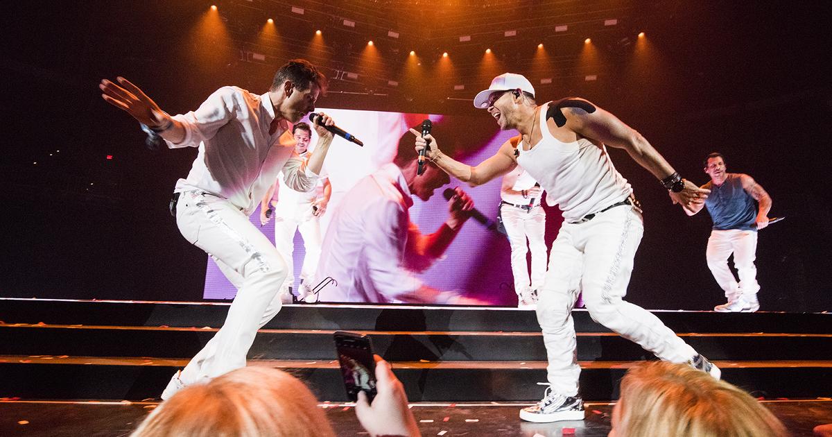 NKOTB Mixtape Tour concert on stage