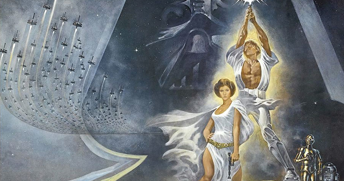 Star Wars: Episode IV A New Hope partial movie poster