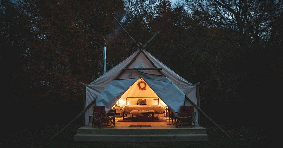 The Fields glamping room tent South Haven