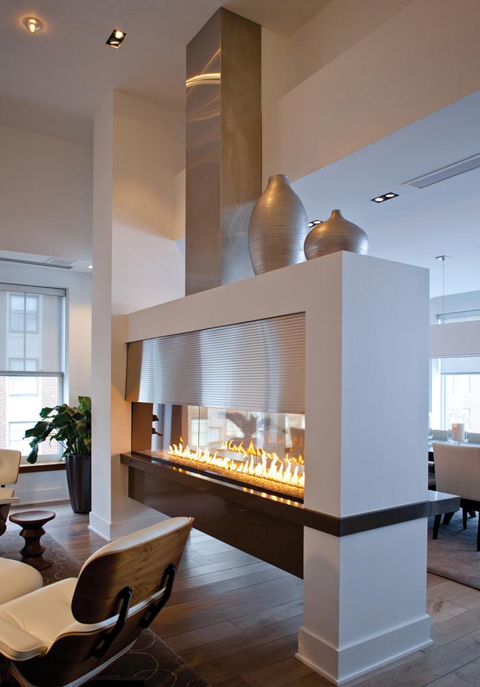 via design - fireplace