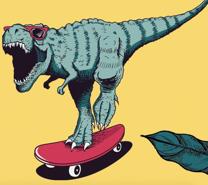 Amazing Dinosaurs! exhibit poster partial Grand Rapids Children Museum