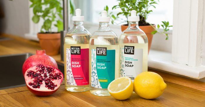 Better Life Naturally Grease Kicking Dish Soap