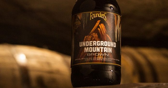 Founders Brewing Co. Underground Mountain Brown beer bottle wide
