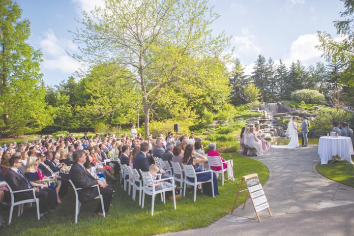 Frederik Meijer Gardens & Sculpture Park wedding ceremony. Courtesy Adam Bird_The People Picture Company