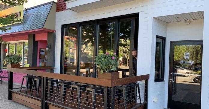 Long Road Distillers Grand Haven tasting room exterior