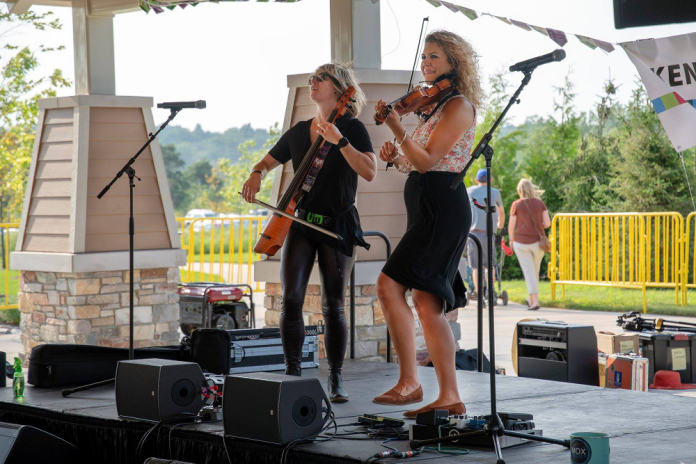 The Moxie Strings at SuperPartyWonderDay at Millennium Park