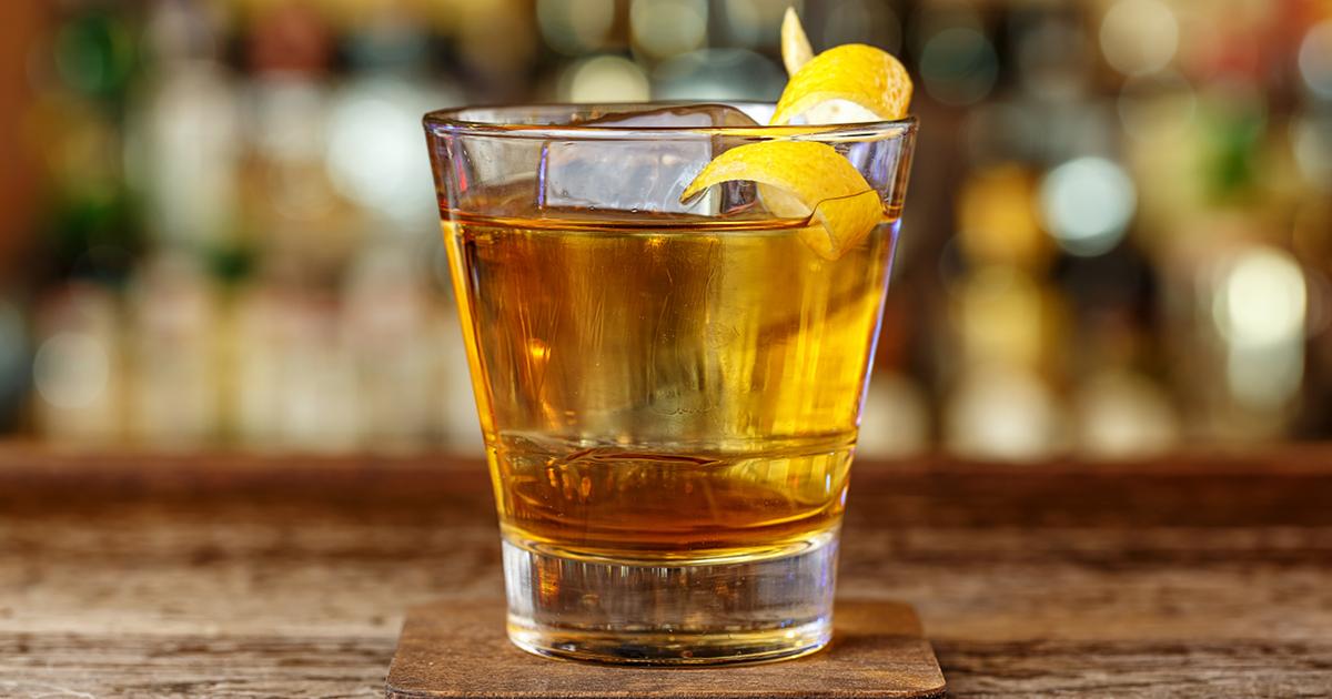 whiskey cocktail glass spirits