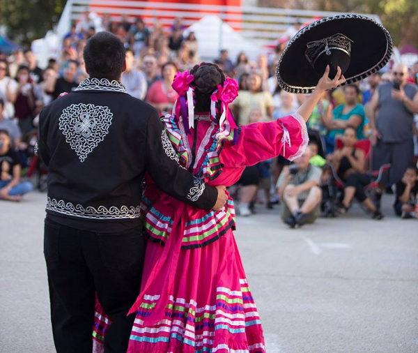Hispanic Festival dancers Calder Plaza