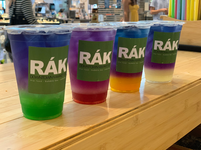 Rak Thai bubble boba tea cups