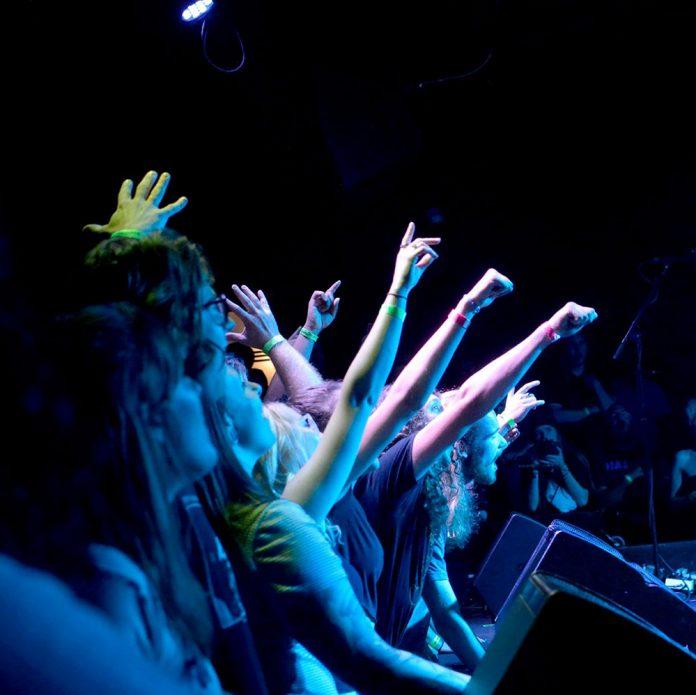 The Pyramid Scheme concert crowd
