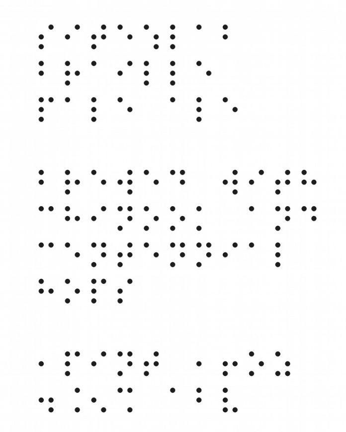 Brewery Vivant Braille Pale Ale beer label partial