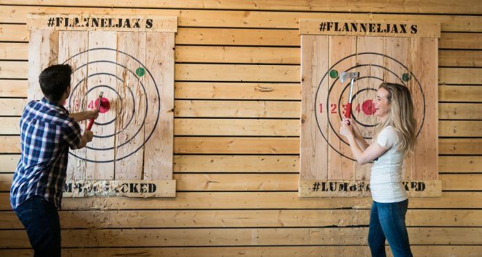 FlannelJax ax-throwing range