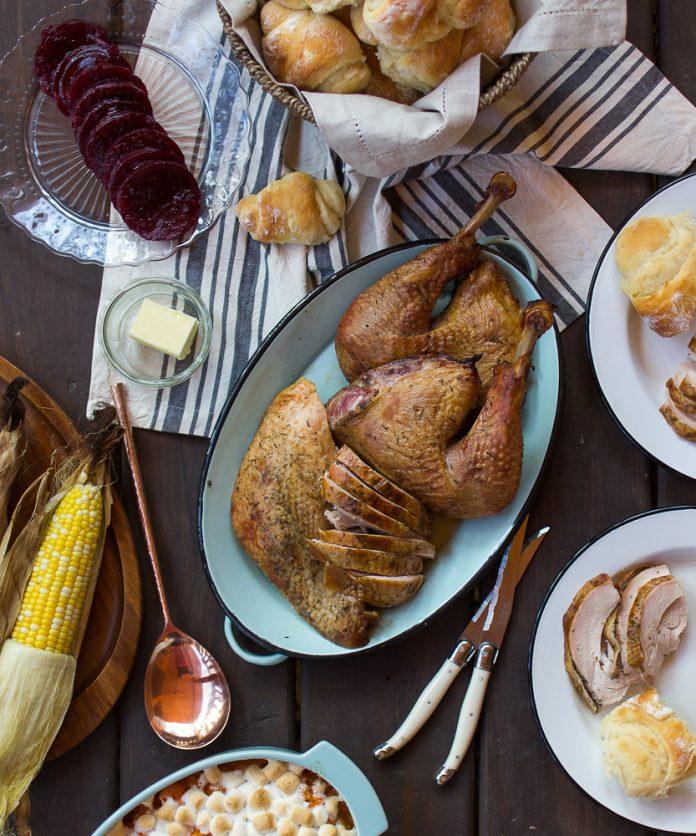 grilled turkey Thanksgiving meal My Little Michigan Kitchen cookbook