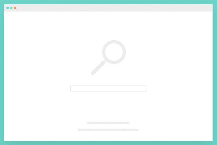 web search engine keyword box graphic