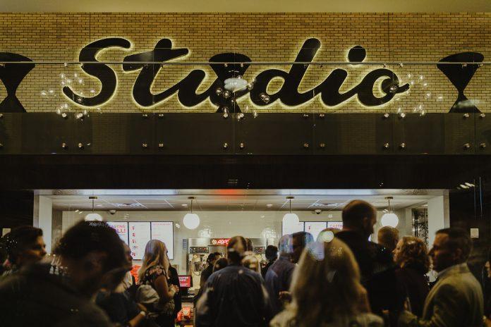Celebration Cinema Studio Park interior partial