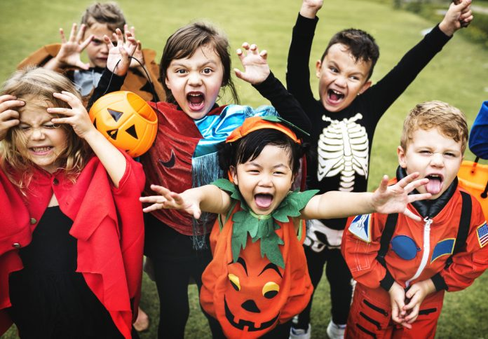 Halloween kids children trick-or-treating costumes