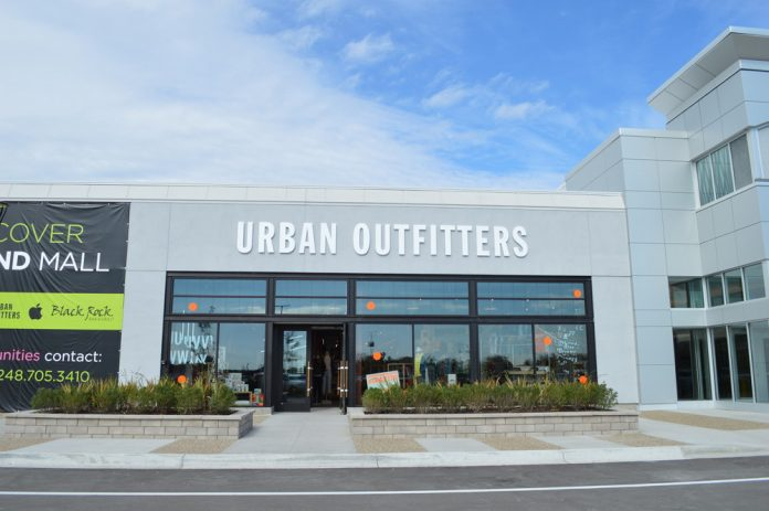 Urban Outfitters exterior Woodland Mall