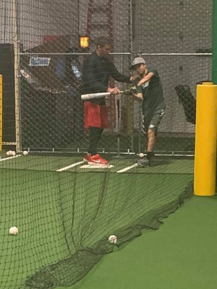 Bombers Hitting Club baseball coach and player