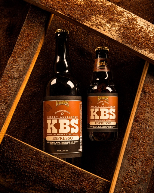 Founders Brewing Co. KBS Espresso beer stout bottles