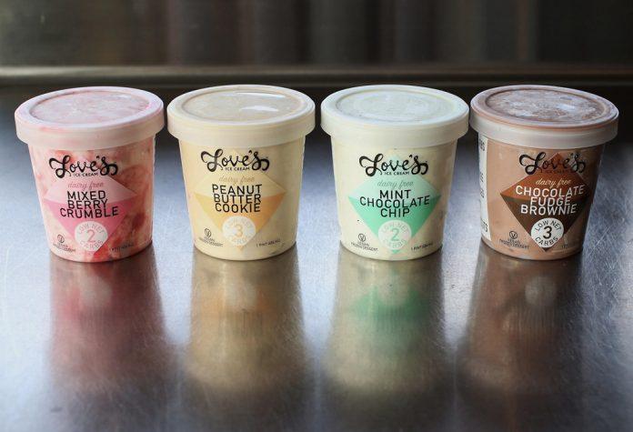 Love's Ice Cream gelato pints
