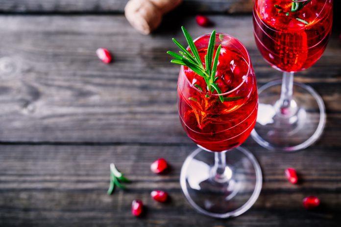 holiday Christmas cocktail glasses