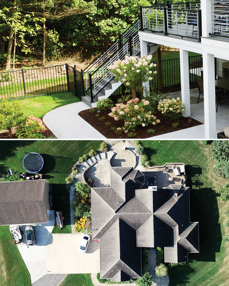 Renaissance Exteriors and Remodeling Deck and Aerial View