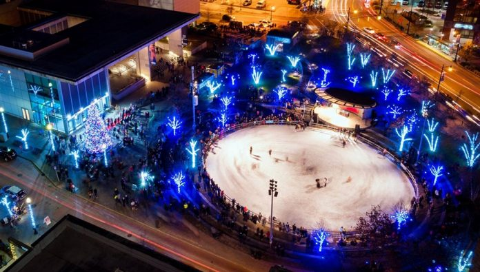 Rosa Parks Circle ice rink