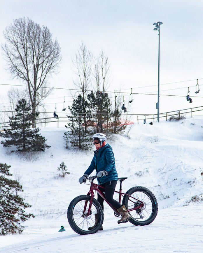 Cannonsburg Ski Area fat tire bike trail